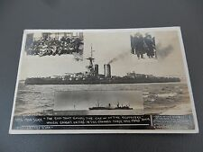 CHANNEL DISASTER CRIBB    Real Photograph Postcard WW1 ERA  AUTHENTIC IRON DUKE