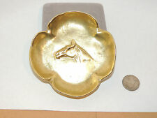 Brass Ashtray with Horsehead in Center and Texas stamp on back (10853)