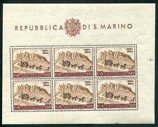 1951 San Marino foglietto 300 lire UPU  ** MNH perfetto OCCASIONE
