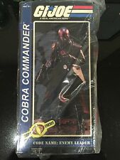 SIDESHOW COLLECTIBLES GI JOE COBRA COMMANDER HOODED SIXTH SCALE FIGURE MISB