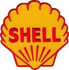 Shell logo iron on/sew on cloth patch 70mm x 70mm (os)