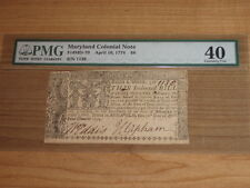 1774 $8 Maryland Colonial Note PMG 40 Extremely Fine
