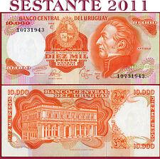 URUGUAY -  10.000 10000 PESOS nd 1974  - Serie C  -  P 53c  -  QFDS / AUNC