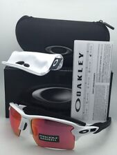 New OAKLEY Sunglasses FLAK 2.0 XL OO9188-03 White Frame w/ Prizm Baseball Lenses
