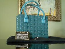 CHANEL Handbag Teal Plastic Tiles and Turquoise Leather Detail