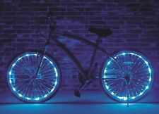 "Wheel Brightz Blue 2 PACK Lights LED Bike Bicycle Scooter Tube Waterproof 20""+"