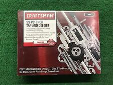BRAND NEW CRAFTSMAN 39pc TAP AND DIE SET STANDARD (FREE SHIPPING)