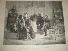 Life in Russia Leaving for Military School after the Holidays 1873  old print