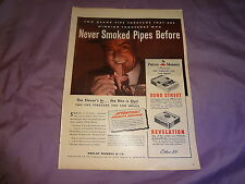 """1945 Philip Morris Tobacco Vintage Magazine Ad """"Never Smoked Pipes Before"""""""