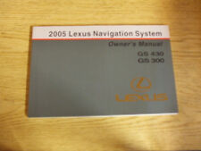 2005 LEXUS GS430 GS300 GS 430 300 Navigation System owners Manual Manuals OEM