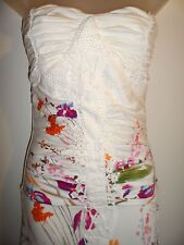 Sky Clothing Brand L Mermaid Maxi Dress White Floral Knit Crochet Spring Party