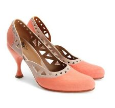JOHN FLUEVOG SHOES SECOND MIRACLES RHON PUMP CORAL PINK BEIGE HEELS 8.5