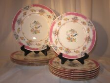 VINTAGE CHINA DISHES PLATES Minton Pink ISIS Mixed Set of 10