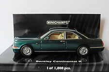 BENTLEY CONTINENTAL R 1996 GREEN METAL MINICHAMPS 436139921 1/43 GRUN METALLIC