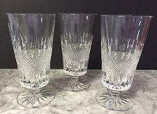 Galway OLD CLADDAGH Iced Tea Beverage Crystal Glasses Lot Of 3