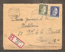 LETTRE ELSASS TO FRANCE CENSURE OKW 26/05/1942 WW2 THIRD REICH WAFFEN