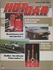 Hot Car magazine 01/1983 featuring Oettinger VW Scirocco GTi