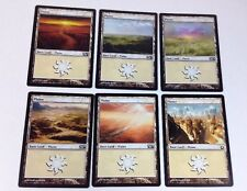 6 MTG Magic the Gathering PLAINS Cards, Basic Land (2012 / 2013)