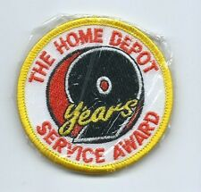 The Home Depot 9 years service award employee patch 2-1/2 in dia