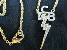 ELVIS TCB 18K Gold Plated Necklace with  Swarovski Crystals