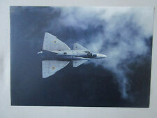 PLAQUETTE DOCUMENT 1 PAGE RECTO VERSO SAAB 37 VIGGEN COMBAT AIRCRAFT