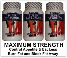 3x Strong Fat Burner Diet Pills Fast Weight Loss Rapid Stomach Slimming Tablets
