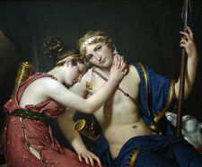 Oil painting Jacques-Louis David - The Farewell of Telemachus and Eucharis