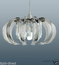 CLARENCE CLEAR CRYSTAL PRISM CEILING PENDANT LIGHT SHADE