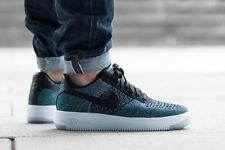 Nike Air Force 1 Ultra Flyknit Scarpe Da Ginnastica Basse af1 Tg UK 8 (EUR 42.5) Nero Blu