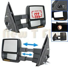 PAIR POWER TOW MIRROR(L+R)~Telescoping+HEATED+LED Turn Signal+Puddle~F150 Truck