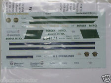 Fowlers 1/43 Police Decals 43017 Immigration - US Border Patrol - Homeland Secur