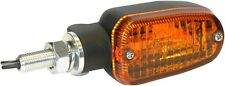 K&S Black Amber Lens 2 Wire DOT Motorcycle Turn Signals Incandescent