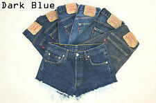 Vintage Womens Levis Denim High Waisted Shorts Jeans Hotpants 4 6 8 10 12 14 16