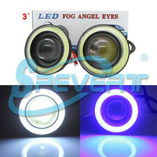"2x BOMBILLAS LED Fog ANGEL EYES Lights 3200LM 3"" Projector Car COB Halo Rings"