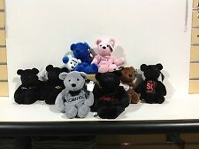 WWF/WWE ATTITUDE BEARS LOT OF 8-BEANIE BEARS-OFFICIALLY LICENSED BY WWF JAN.1999