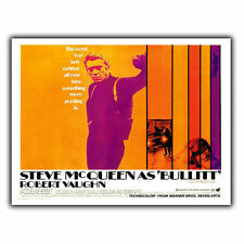 STEVE MCQUEEN BULLITT METAL SIGN WALL PLAQUE Film Movie Advert poster print