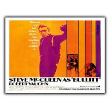 Steve McQueen Bullit película de Placa De Pared Letrero de metal película anuncio cartel impresión