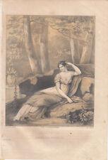 Josephine (1811-1886) Französische Kaiserin Napoleon getönte Lithografie 1840