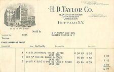 H.D. Taylor Company, 99-113 Oak Street, Buffalo NY 1924 Billhead