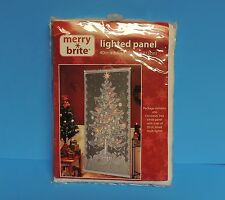 New Merry Brite Christmas Tree White Panel with Set of 20 Multi Lights