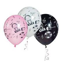 Latex Balloons  Rock 'n Roll1950s images on all sides 100 pack
