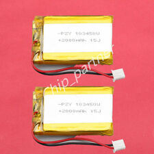 2pcs 3.7V 2000mAh Polymer Battery 103450 PCM Rechargeable For GPS PSP ipod PC