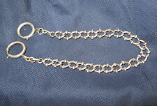 ancienne chaine de montre gousset argent massif old watch chain sterling silver