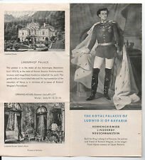 1950s Brochure for the Royal Palaces of Ludwig II of Bavaria Germany