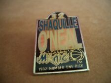 Vintage 1992 Shaquille O'Neal Orlando Magic NBA Basketball Logo Lapel Pin-RARE!