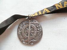 Médaille ruban ITALIE en argent REGIA ACCADEMIA NAVALE Marine ORIGINAL WWI WWII
