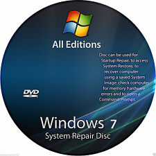 Windows 7 all in one 32 & 64 bit Repair Re install Recovery Bootable DVD