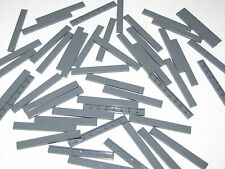 Lego Lot of 50 Dark Bluish Gray Tiles 1 x 8 Smooth Flat Pieces Parts