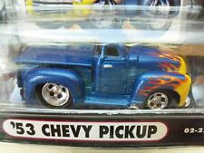 MUSCLE MACHINES - (1953) '53 CHEVY PICKUP TRUCK - FLAMES - 1/64 DIECAST