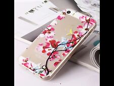 iPhone 6 6s Mobile Phone Soft Clear Silicon Gel Case Flowers Blossom Xmas